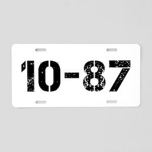 10-87 Aluminum License Plate