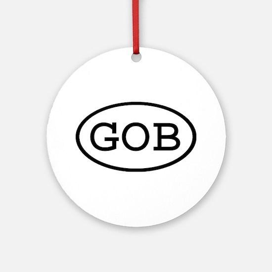 GOB Oval Ornament (Round)