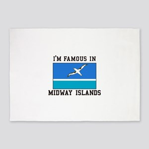 Famous Midway Islands 5'x7'Area Rug