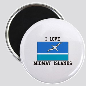 Love Midway Islands Magnets