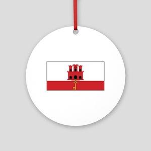Gibraltar Flag Ornament (Round)