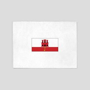 Gibraltar Flag 5'x7'Area Rug