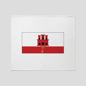 Gibraltar Flag Throw Blanket