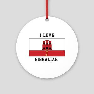 I Love Gibraltar Ornament (Round)