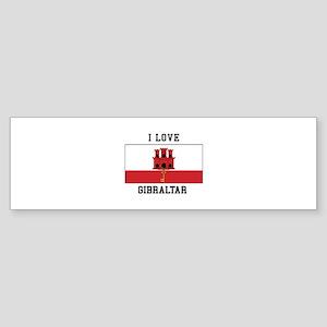 I Love Gibraltar Bumper Sticker