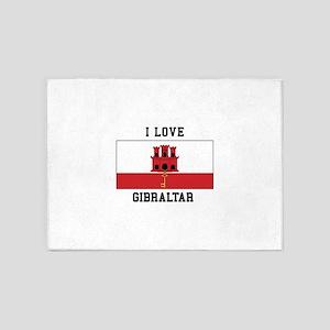 I Love Gibraltar 5'x7'Area Rug