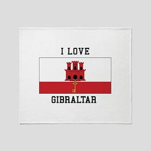 I Love Gibraltar Throw Blanket