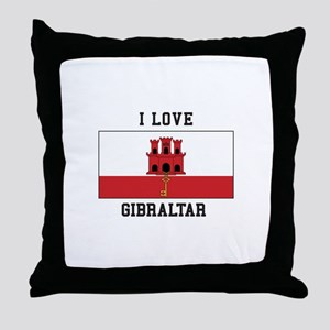 I Love Gibraltar Throw Pillow