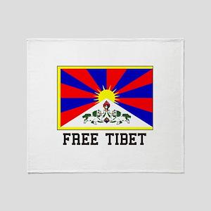 Free Tibet Throw Blanket