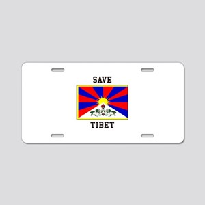 Save Tibet Aluminum License Plate