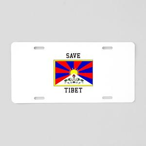 Save Tibet Aluminum License Plate