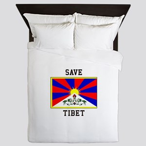 Save Tibet Queen Duvet