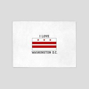 I Love Washington D. C. 5'x7'Area Rug