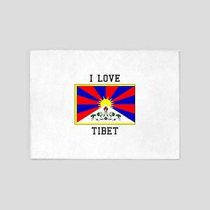 I LOve Tibet 5'x7'Area Rug