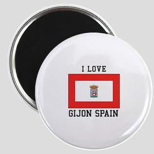 Love Gijon Spain Magnets