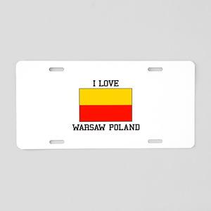 I Love Warsaw Poland Aluminum License Plate