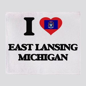 I love East Lansing Michigan Throw Blanket