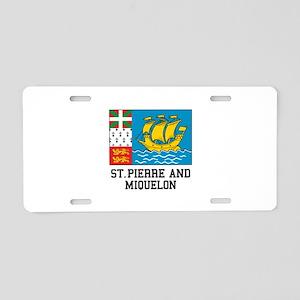 Saint Pierre and Miquelon Aluminum License Plate