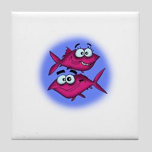 Pisces Cartoon Tile Coaster