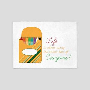 Life Crayons! 5'x7'Area Rug