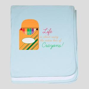 Life Crayons! baby blanket