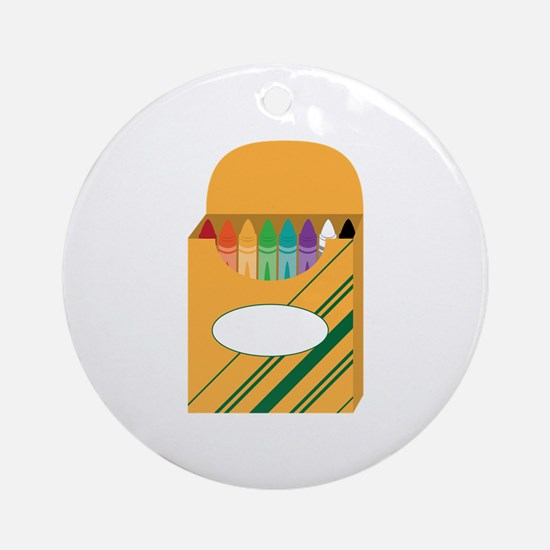 Box of Crayons Ornament (Round)