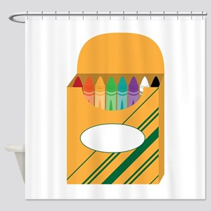 Box of Crayons Shower Curtain