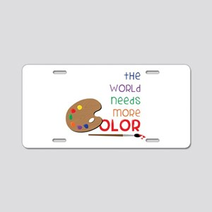 World Needs More Color Aluminum License Plate