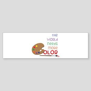 World Needs More Color Bumper Sticker