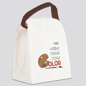 World Needs More Color Canvas Lunch Bag