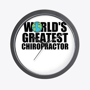 World's Greatest Chiropractor Wall Clock