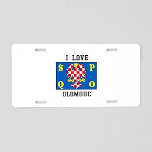 I Love Olomouc Aluminum License Plate