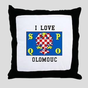 I Love Olomouc Throw Pillow