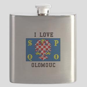 I Love Olomouc Flask