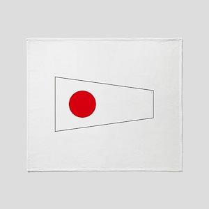 "Pennant Flag Number ""1"" Throw Blanket"
