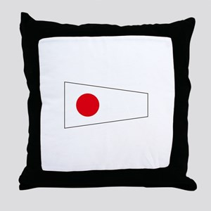 """Pennant Flag Number """"1"""" Throw Pillow"""
