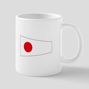 """Pennant Flag Number """"1"""" Mugs"""