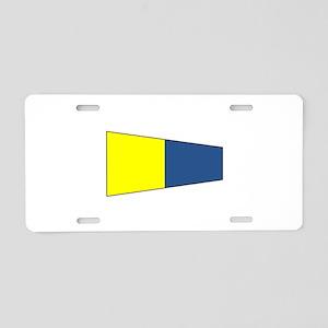 """Pennat Flag Number """"5"""" Aluminum License"""