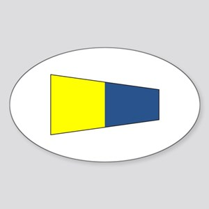"""Pennat Flag Number """"5"""" Sticker"""
