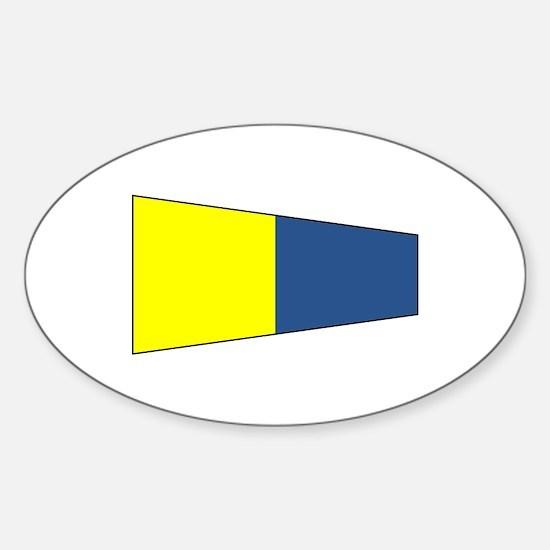 "Pennat Flag Number ""5"" Decal"