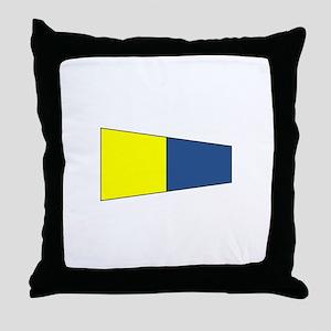 """Pennat Flag Number """"5"""" Throw Pillow"""