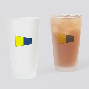 """Pennat Flag Number """"5"""" Drinking Glass"""