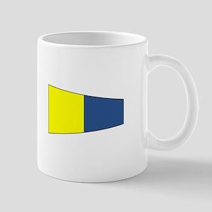 """Pennat Flag Number """"5"""" Mugs"""