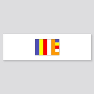 Flag of Buddhism Bumper Sticker