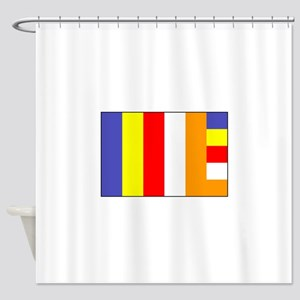 Flag Of Buddhism Shower Curtain
