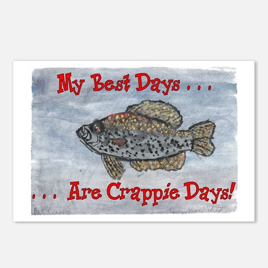 Crappie Days! Postcards (Package of 8)