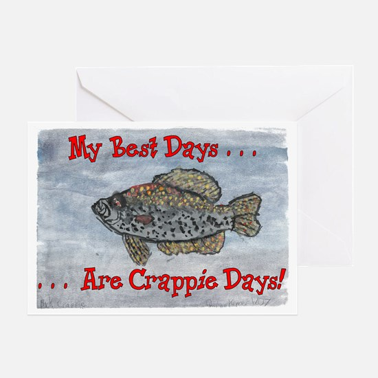 Crappie Days! Greeting Card
