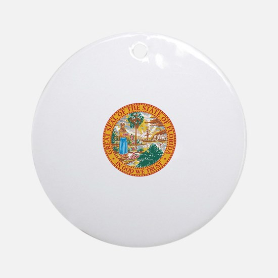 Florida State Seal Ornament (Round)