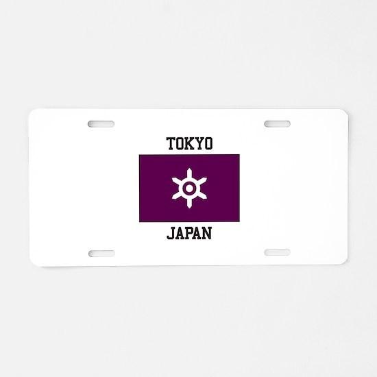 Tokyo, Japan Flag Aluminum License Plate