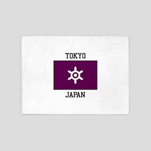 Tokyo, Japan Flag 5'x7'Area Rug